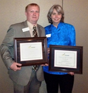 Ryan Cloud and Mary McDonald of AgForestry Class 33